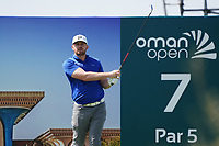 Garrick Porteous (ENG) on the 7th during Round 2 of the Oman Open 2020 at the Al Mouj Golf Club, Muscat, Oman . 28/02/2020<br /> Picture: Golffile | Thos Caffrey<br /> <br /> <br /> All photo usage must carry mandatory copyright credit (© Golffile | Thos Caffrey)