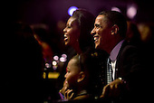 """Washington, DC - October 13, 2009 -- United States President Barack Obama, First Lady Michelle Obama, and daughter Sasha attend the """"In Performance at the White House: Fiesta Latina"""" concert on the South Lawn of the White House, October 13, 2009..Mandatory Credit: Pete Souza - White House via CNP"""