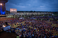 A ocean of Scouts at the Opening Ceremony of 22nd World Scout Jamboree Sweden 2011.