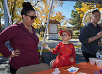 Kristie and 2-year-old Abigail paint during Pumpkin Palooza in Sparks, Nevada on Sunday, Oct. 22, 2017.