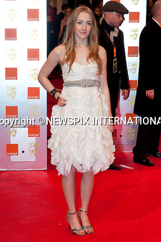 "SAOIRSE RONAN.at the Annual British Academy Film Awards, Royal Opera House, London_21st February, 2010..Mandatory Photo Credit: ©Dias/NEWSPIX INTERNATIONAL..**ALL FEES PAYABLE TO: ""NEWSPIX INTERNATIONAL""**..PHOTO CREDIT MANDATORY!!: NEWSPIX INTERNATIONAL(Failure to credit will incur a surcharge of 100% of reproduction fees)..IMMEDIATE CONFIRMATION OF USAGE REQUIRED:.Newspix International, 31 Chinnery Hill, Bishop's Stortford, ENGLAND CM23 3PS.Tel:+441279 324672  ; Fax: +441279656877.Mobile:  0777568 1153.e-mail: info@newspixinternational.co.uk"