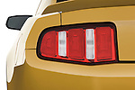 Tail light close up detail view of a 2010 Ford Mustang Coupe GT Premium
