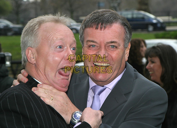 KEITH CHEGWIN & TONY BLACKBURN.TRIC Awards at Le Meridien Grosvenor House.09 March 2004.funny.www.capitalpictures.com.sales@capitalpictures.com.© Capital Pictures.