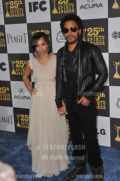 Lenny Kravitz & Zoe Kravitz at the 25th Anniversary Film Independent Spirit Awards at the L.A. Live Event Deck in downtown Los Angeles..March 5, 2010  Los Angeles, CA.Picture: Paul Smith / Featureflash