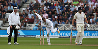 South Africa's Keshav Maharaj takes the wicket of England's Ben Stokes<br /> <br /> Photographer Stephen White/CameraSport<br /> <br /> Investec Test Series 2017 - Second Test - England v South Africa - Day 2 - Saturday 15th July 2017 - Trent Bridge - Nottingham<br /> <br /> World Copyright &copy; 2017 CameraSport. All rights reserved. 43 Linden Ave. Countesthorpe. Leicester. England. LE8 5PG - Tel: +44 (0) 116 277 4147 - admin@camerasport.com - www.camerasport.com