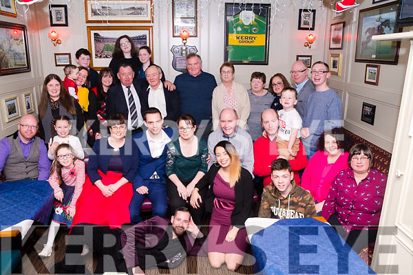 Nicola Murphy & Christiano Santini with Family & Friends celebrating the Christening of baby Mia (sleeping peacefully while the picture was taken) at Bunkers in Killorglin on Saturday