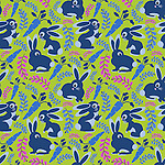 Seamless Vector pattern of cute bunnies, carrots and branches.Repeatable vector pattern suitable for surface printing.<br /> <br /> Available also as latest EPS format (Scalable to infinite size) and PNG format. <br /> <br /> WANT TO ZOOM IN ON JUST THE BASE TILE OF THIS PATTERN TO HAVE A CLOSER LOOK?<br /> <br /> You can also find the image of a single tile of this pattern in this gallery.<br /> <br /> Tip: It should be the image next to this one, or, just search &quot;seamless+bunnies+blue&quot;!