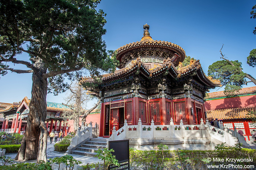 Pavilion of Ten Thousand Springs, Imperial Garden, Forbidden City, Beijing, China