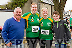 Martin Farrell, Laura Griffin, Louise and Dean Farrell Tralee at the start of the Kerry's Eye Tralee, Tralee Half Marathon on Saturday.