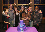 """Isabelle McCalla, Christopher Sieber, Courtenay Collins, Angie Schworer, Beth Leavel, Brooks Ashmanskas, and Michael Potts from the cast of Broadway's """"The Prom"""" Celebrates 100 Performances at the Longacre Theatre on February 13, 2019 in New York City."""