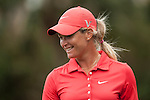 TAOYUAN, TAIWAN - OCTOBER 28:  Suzann Pettersen smiles on the 17th hole during the day four of the Sunrise LPGA Taiwan Championship at the Sunrise Golf Course on October 28, 2012 in Taoyuan, Taiwan.  Photo by Victor Fraile / The Power of Sport Images