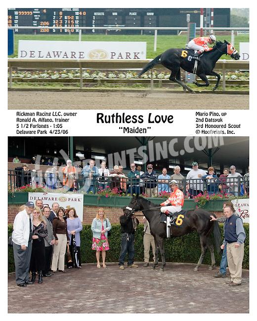 Ruthless Love winning at Delaware Park on 4/23/2006