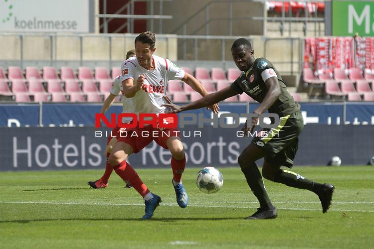 nph00351: Mark UTH (1.FC Koeln) Aktion,Zweikampf gegen Moussa NIAKHATE (MZ),Foul-es gibt Elfmeter,Strafstoss.<br /> Sport: Fussball: 1. Bundesliga: Saison 19/20: 26.Spieltag: 1.FC KOELN-FSV MAINZ 05,17.05.2020.<br /> Foto: Anke Waelischmiller/SVEN SIMON/POOL / via Meuter/nordphoto<br /> <br /> Nur für journalistische Zwecke! Only for editorial use!<br /> Gemäß den Vorgaben der DFL Deutsche Fußball Liga ist es untersagt, in dem Stadion und/oder vom Spiel angefertigte Fotoaufnahmen in Form von Sequenzbildern und/oder videoähnlichen Fotostrecken zu verwerten bzw. verwerten zu lassen. DFL regulations prohibit any use of photographs as image sequences and/or quasi-video.