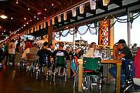 People dining interior Joe's Crab Shack restaurant in Old Sacramento California