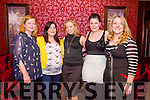 Denise Kerins from Ballymac celebrating her birthday and Ladies night with friends on Friday night at Benners Hotel. Front l-r Ann O'Carroll, Christine O'Hanlon, Denise Kerins, Aoife O'Hanlon  and Cora O'Brien