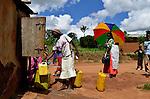 A community water tap near Rukumo , Rwanda.....