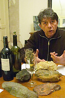 Jean-Pierre Vanel Domaine Lacroix-Vanel. Caux. Pezenas region. Languedoc. Owner winemaker. France. Europe. Bottle.