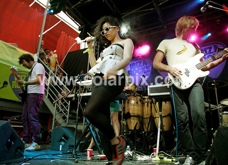 **ALL ROUND PICTURES FROM SOLARPIX.COM**.*WORLDWIDE RIGHTS*.New Young Pony Club perform live at Ibiza Rocks at Bar M, San Antonio, Ibiza, 24th July 2007..This pic: New Young Pony Club..JOB REF:  4372  GMT   DATE: 24_07_2007.**MUST CREDIT SOLARPIX.COM OR DOUBLE FEE WILL BE CHARGED* *UNDER NO CIRCUMSTANCES IS THIS IMAGE TO BE REPRODUCED FOR ANY ONLINE EDITION WITHOUT PRIOR PERMISSION*