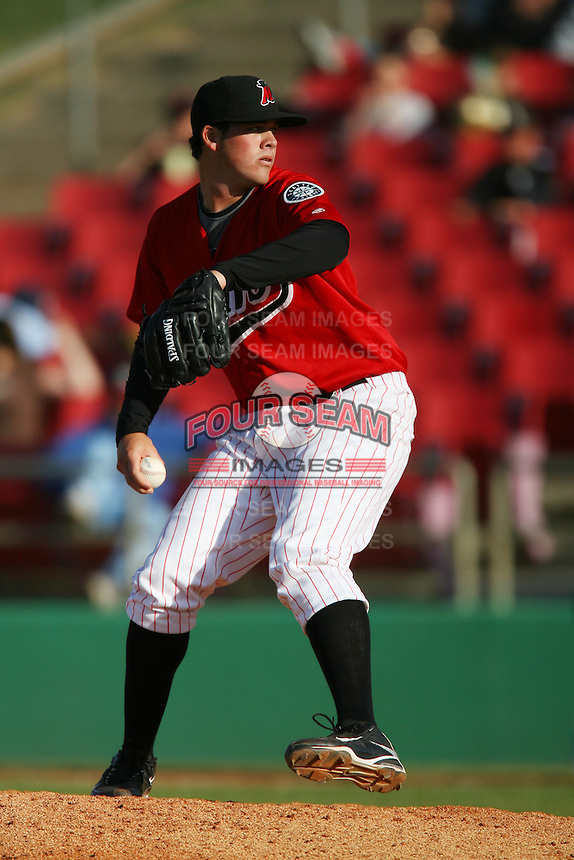 April 26 2009: Steve Richard of the High Desert Mavericks during game against the San Jose Giants at Mavericks Stadium in Adelanto,CA.  Photo by Larry Goren/Four Seam Images