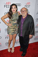 LOS ANGELES, CA. November 11, 2016: Danny DeVito &amp; daughter actress Lucy DeVito at premiere of &quot;The Comedian&quot;, part of the AFI Fest 2016, at the Egyptian Theatre, Hollywood.<br /> Picture: Paul Smith/Featureflash/SilverHub 0208 004 5359/ 07711 972644 Editors@silverhubmedia.com