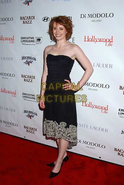 BRYCE DALLAS HOWARD.Movieline's Hollywood Life Honors 2004 Breakthrough Awards held at the Henry Fonda Music Box Theatre. .December 12th, 2004.full length, hand on hip, black strapless dress, embroidered trim.www.capitalpictures.com.sales@capitalpictures.com.© Capital Pictures.