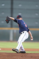 Casey Shane #34 of the AZL Indians pitches against the AZL Angels at the Cleveland Indians Spring Training Complex on July 13, 2014 in Goodyear, Arizona. AZL Angels defeated the AZL Indians, 6-5. (Larry Goren/Four Seam Images)