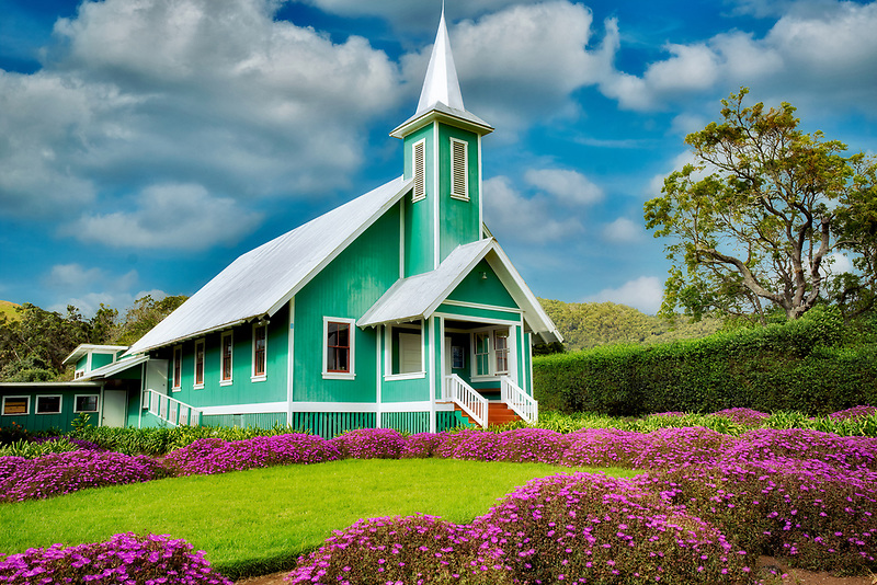 Keola Mauloa Church. Waimea, Hawaii, The Big Island