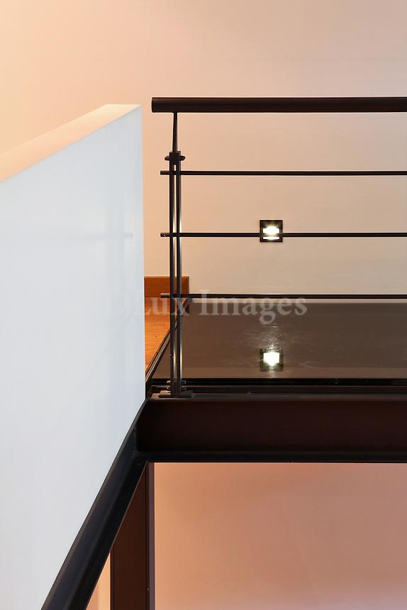modern black railings