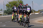 Parkhotel-Valkenburg team in action during Stage 1 of the Madrid Challenge by La Vuelta, a team time trial running 12.6km from Boadilla del Monte to Boadilla del Monte, Spain. 15th September 2018.                   <br /> Picture: Unipublic/Vicent Bosch | Cyclefile<br /> <br /> <br /> All photos usage must carry mandatory copyright credit (&copy; Cyclefile | Unipublic/Vicent Bosch)