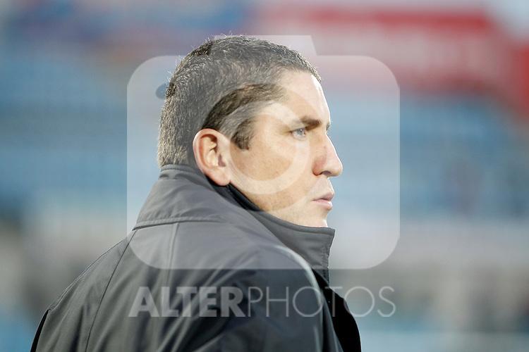Villareal's coach Juan Carlos Garrido during La Liga match. December 11, 2010. (ALTERPHOTOS/Alvaro Hernandez)