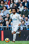 Marcelo Vieira Da Silva of Real Madrid in action during the La Liga 2017-18 match between Real Madrid and RC Deportivo La Coruna at Santiago Bernabeu Stadium on January 21 2018 in Madrid, Spain. Photo by Diego Gonzalez / Power Sport Images