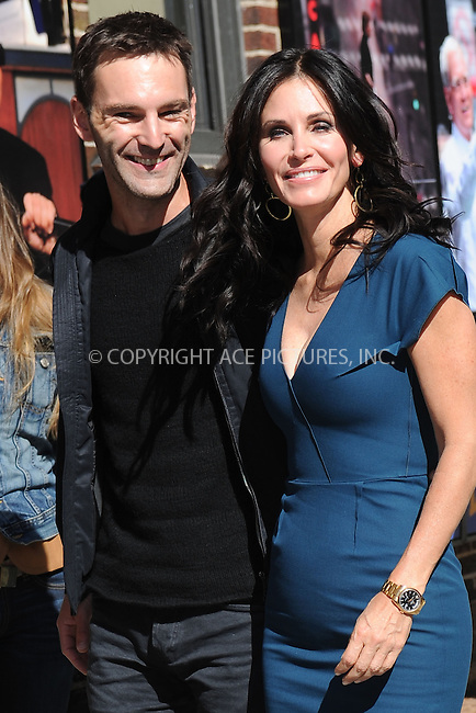 WWW.ACEPIXS.COM <br /> April 21, 2014 New York City<br /> <br /> Johnny McDaid and Courteney Cox arriving to tape an appearance on the Late Show with David Letterman on April 21, 2014 in New York City.<br /> <br /> Please byline: Kristin Callahan  <br /> <br /> ACEPIXS.COM<br /> Ace Pictures, Inc<br /> tel: (212) 243 8787 or (646) 769 0430<br /> e-mail: info@acepixs.com<br /> web: http://www.acepixs.com