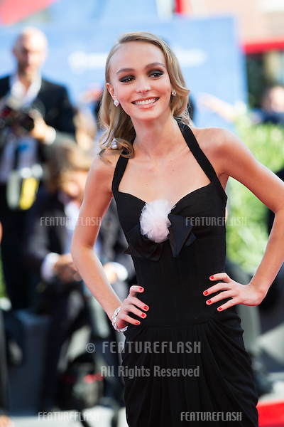 Lily-Rose Depp  at the premiere of Planetarium at the 2016 Venice Film Festival.<br /> September 8, 2016  Venice, Italy<br /> Picture: Kristina Afanasyeva / Featureflash