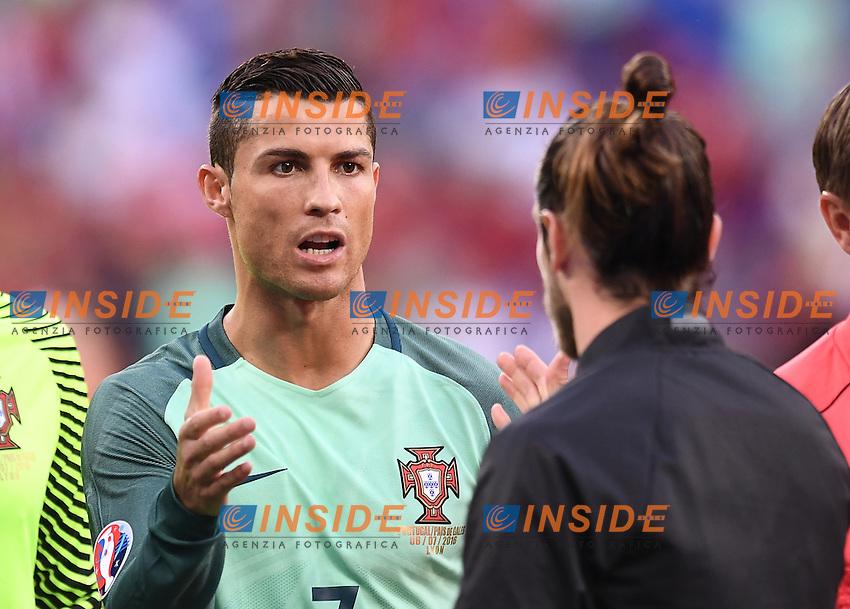 Cristiano Ronaldo, Gareth Bale <br /> Lyon 06-07-2016 Stade de Lyon Football Euro2016 Portugal - Wales / Portogallo - Galles Semi-finals / Semifinali <br /> Foto Matteo Gribaudi  / Image / Insidefoto