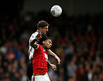 Chris Basham of Sheffield Utd with Armand Traore of Nottingham Forest during the Championship match at the City Ground Stadium, Nottingham. Picture date 30th September 2017. Picture credit should read: Simon Bellis/Sportimage