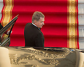 Sauli Niinisto, President of the Republic of Finland arrives May 13, 2016 at The White House in Washington, DC to attend a State Dinner while participating in the U.S.- Nordic Leaders Summit. <br /> Credit: Chris Kleponis / CNP