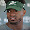 Jamal Adams #33 of the New York Jets speaks with the media after the second day of team training camp held at Atlantic Health Jets Training Center in Florham Park, NJ on Sunday, July 30, 2017.