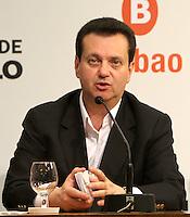 ATENCAO EDITOR: FOTO EMBARGADA PARA VEICULO INTERNACIONAL - SÃO PAULO, SP, 19 SETEMBRO 2012 - Coletiva de imprensa do prefeito Gilberto Kassab sobre o Grand Slam de Xadrez 2012 na prefeitura de São Paulo capital paulista  nessa quarta, 19. (FOTO: LEVY RIBEIRO / BRAZIL PHOTO PRESS)