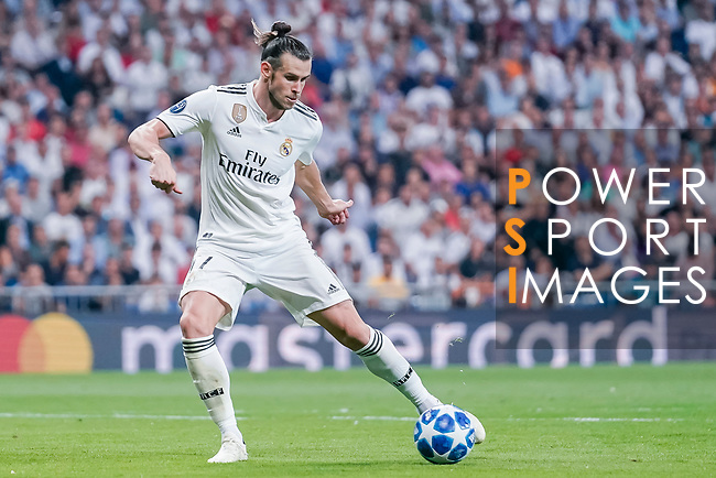 Gareth Bale of Real Madrid in action during the UEFA Champions League 2018-19 match between Real Madrid and Roma at Estadio Santiago Bernabeu on September 19 2018 in Madrid, Spain. Photo by Diego Souto / Power Sport Images