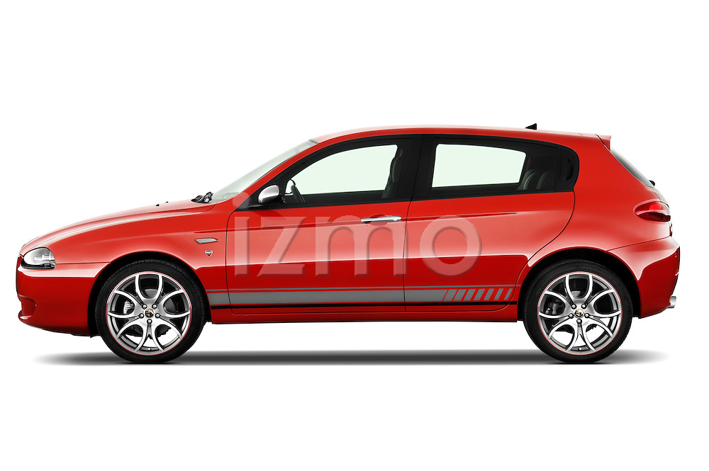 Driver side profile view of a 2000 - 2010 Alfa Romeo 147 5 Door Ducati Corse Hatchback.