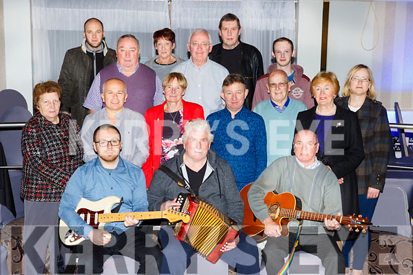 Killarney Musicians who performed at the Killarney MS chariy concert in the Gleneagle Hotel on Friday night front row l-r: Rory Sugrue, Seamus O'Rahilly, Jimmy Fleming. Middle row:  Kathleen O'Shea, alan Flynn, Kay Fleming, Teddy Sugrue, DDermot Flynn, Norrie O'Neill, Pauline Lyne. Back row: William O'Sullivan, Ger Brosnan, Paddy O'Shea, Margaret McElland, Ted Ahern, Conor Courtney