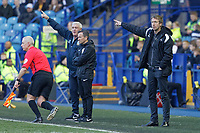 Swansea City manager Graham Potter (R) reacts on the touch line during the Sky Bet Championship match between Sheffield Wednesday and Swansea City at Hillsborough Stadium, Sheffield, England, UK. Saturday 23 February 2019