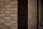 Brick columns in a row