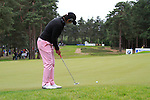 Matteo Manassero (ITA) takes his putt on the 10th green during Day 3 of the BMW PGA Championship Championship at, Wentworth Club, Surrey, England, 28th May 2011. (Photo Eoin Clarke/Golffile 2011)