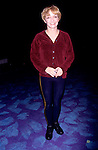 "Cathy Rigby pictured backstage at the musical ""Peter Pan"", Marquis Theater, New York City in December 1998."