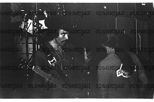 BLACK SABBATH - guitarist Tony Iommi performing live on the Technical Ecstasy Tour at the Swing Auditorium in San Bernardino, CA USA - November 2, 1976.  Photo © Kevin Estrada / Iconicpix