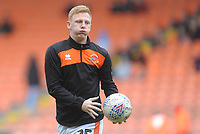 Blackpool's Callum Guy during the pre-match warm-up <br /> <br /> Photographer Kevin Barnes/CameraSport<br /> <br /> The EFL Sky Bet League One - Blackpool v Gillingham - Saturday 4th May 2019 - Bloomfield Road - Blackpool<br /> <br /> World Copyright © 2019 CameraSport. All rights reserved. 43 Linden Ave. Countesthorpe. Leicester. England. LE8 5PG - Tel: +44 (0) 116 277 4147 - admin@camerasport.com - www.camerasport.com