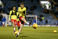 Blackburn Rovers' Richard Smallwood warming up<br /> <br /> Photographer Andrew Kearns/CameraSport<br /> <br /> The EFL Sky Bet League One - Portsmouth v Blackburn Rovers - Tuesday 13th February 2018 - Fratton Park - Portsmouth<br /> <br /> World Copyright &copy; 2018 CameraSport. All rights reserved. 43 Linden Ave. Countesthorpe. Leicester. England. LE8 5PG - Tel: +44 (0) 116 277 4147 - admin@camerasport.com - www.camerasport.com