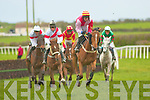 Carrigaholt number seven right was leading in The Jim Hanrahan Memorial Race at the point-to-point Race meeting in Ballybunion on Sunday...   Copyright Kerry's Eye 2008