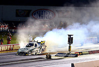 Aug. 31, 2013; Clermont, IN, USA: NHRA funny car driver John Force during qualifying for the US Nationals at Lucas Oil Raceway. Mandatory Credit: Mark J. Rebilas-